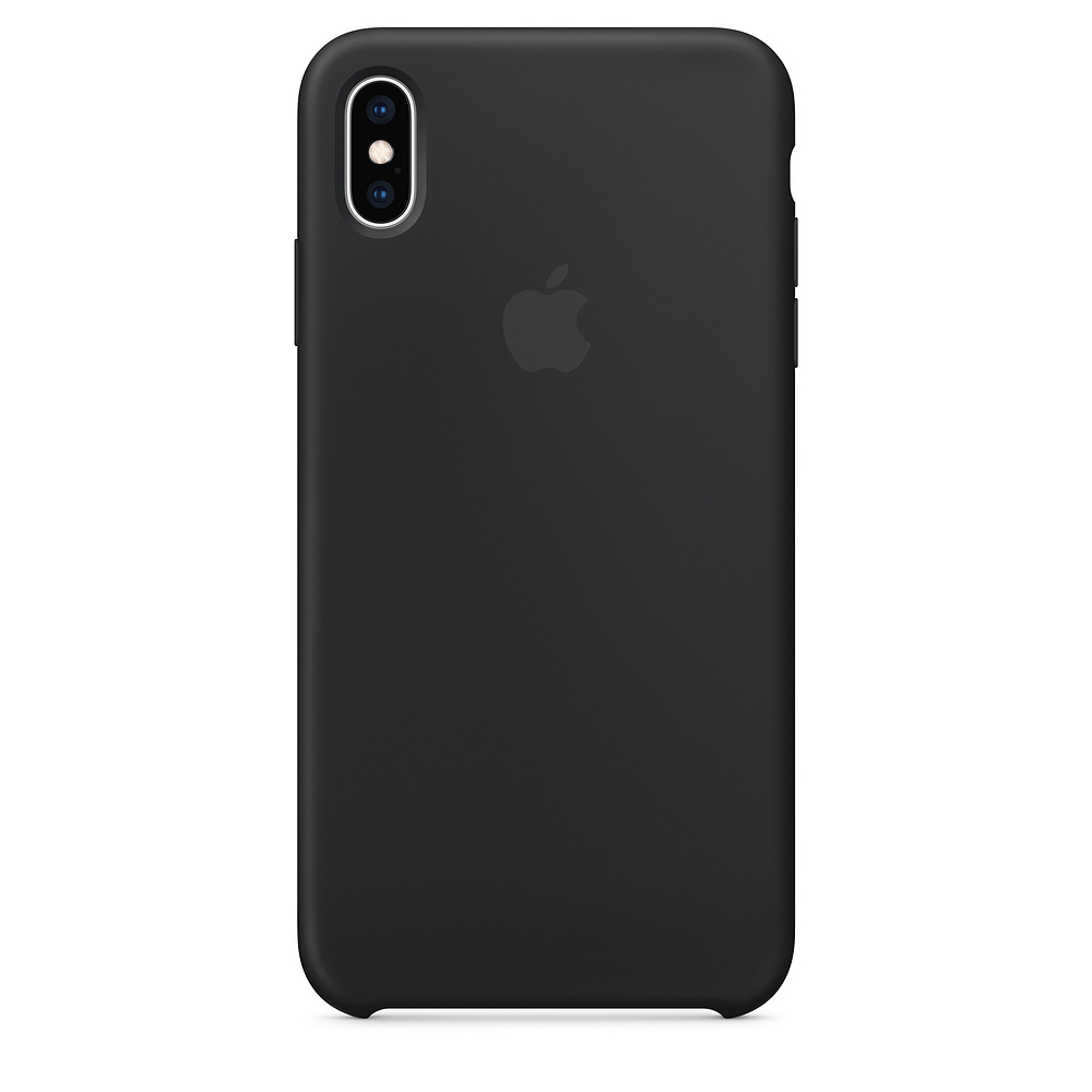 Pouzdro Apple Silicon Case Apple iPhone XS MAX černé