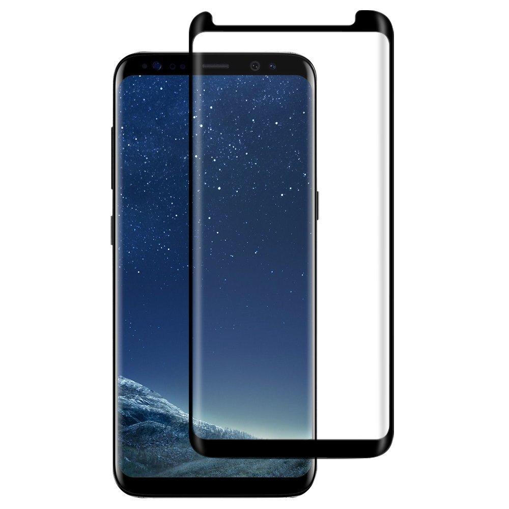 3D Ochranné sklo CASE FRIENDLY na celý displej pro Samsung Galaxy S8 - Černé / Black