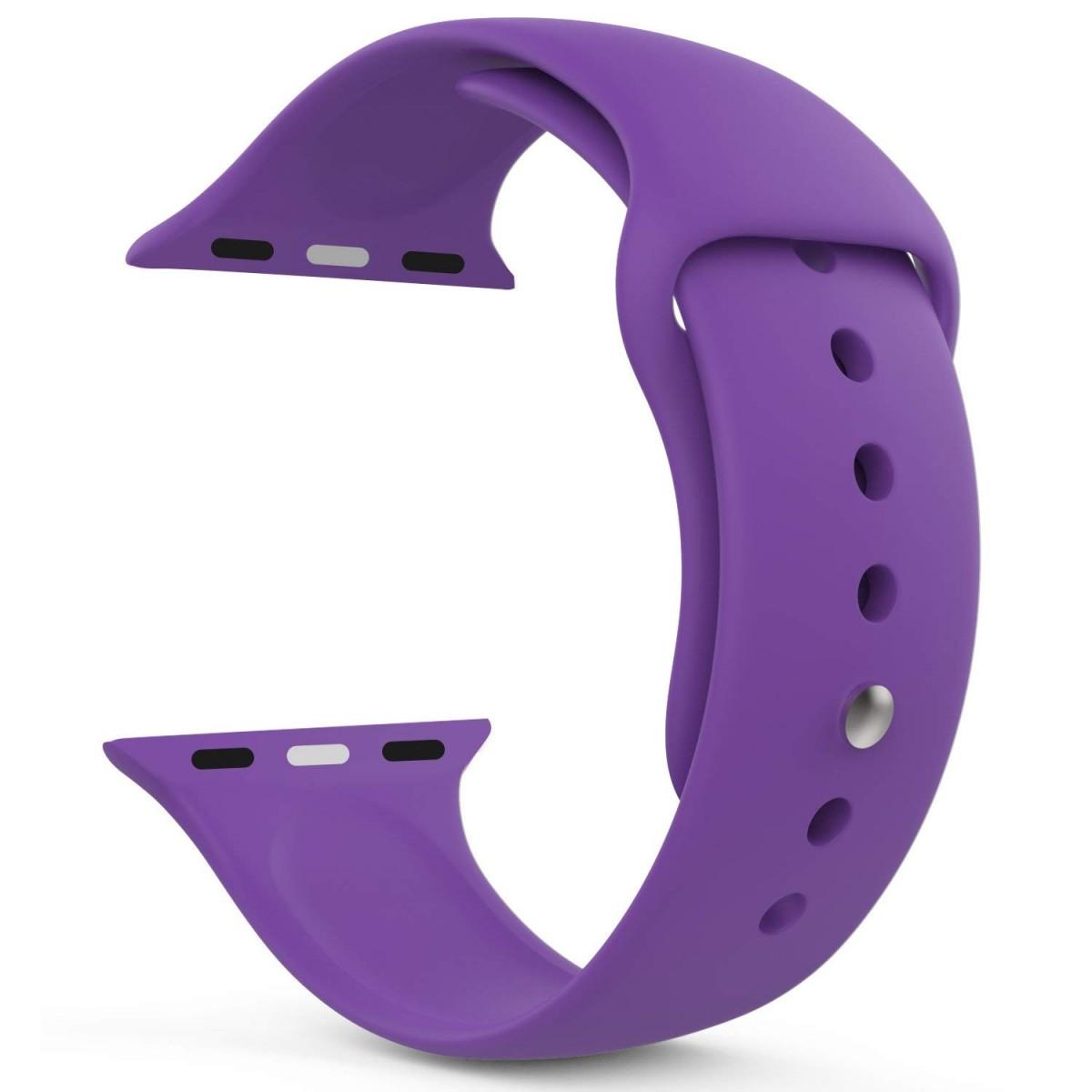 Řemínek SmoothBand pro Apple Watch Series 3/2/1 42mm - Tmavě fialový
