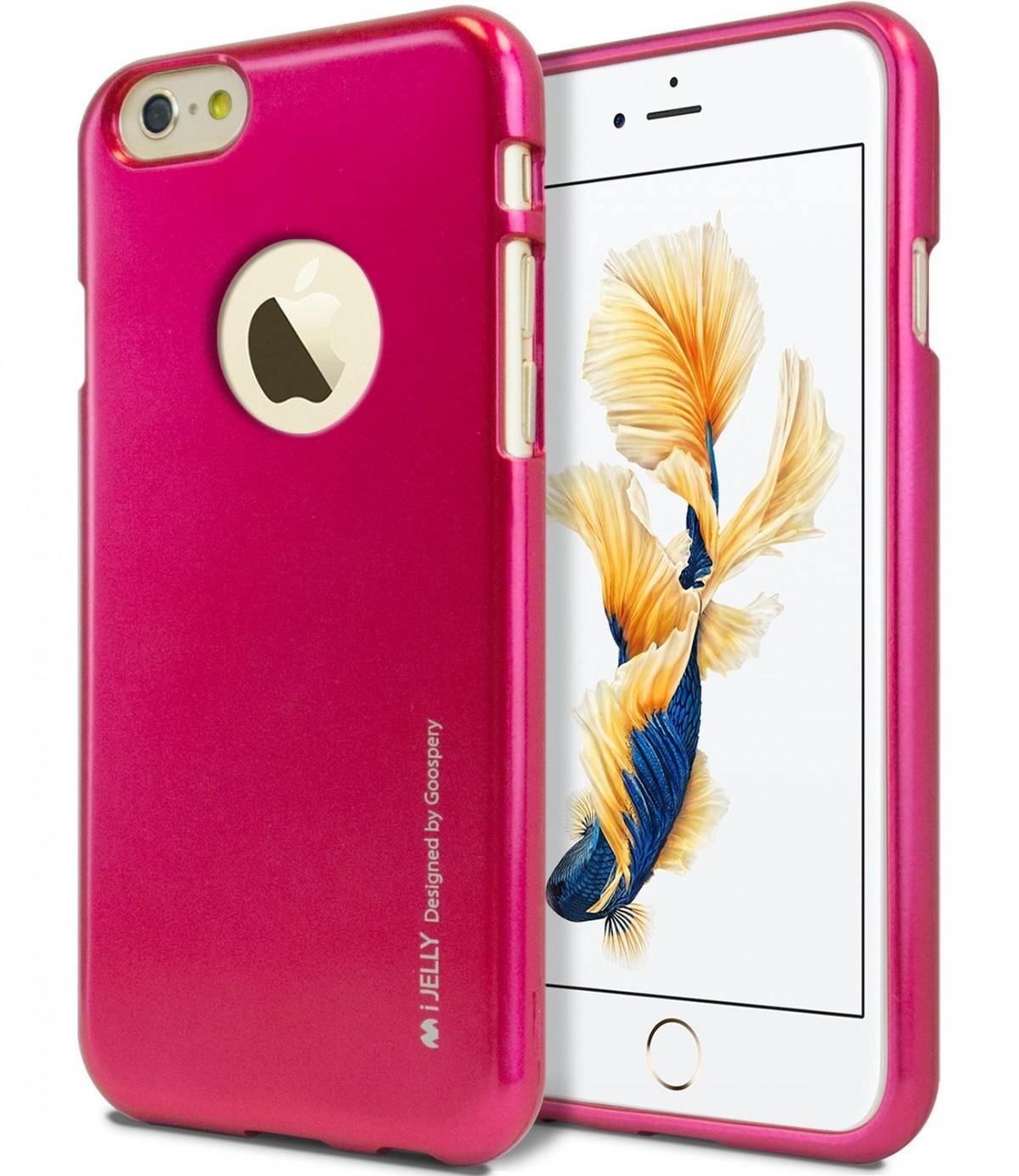 Silikonový obal / kryt iJelly Metal Goospery Apple iPhone 6s Plus / 6 Plus - Růžový