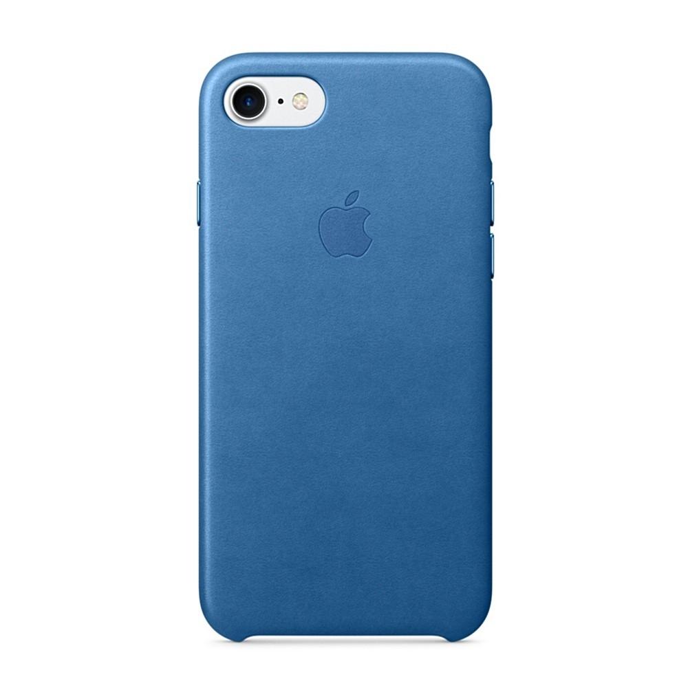 Pouzdro Apple Leather Cover Sea iPhone 7/8 modré