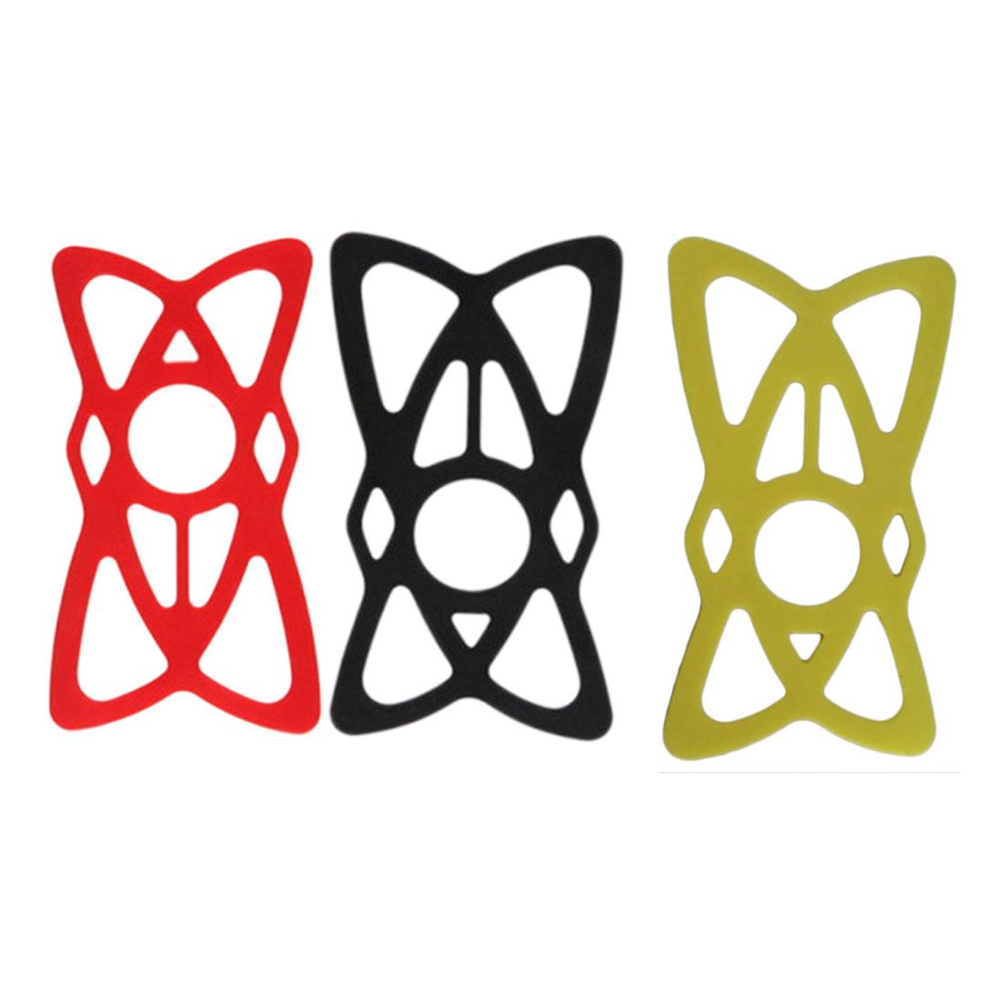 3x náhradní silikonová gumová bandáž k držáku na kolo