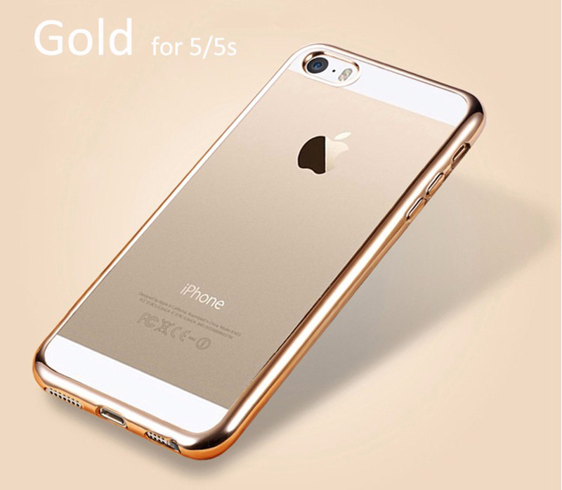 Elegantní obal / kryt RING pro iPhone SE/5s/5 (gold)