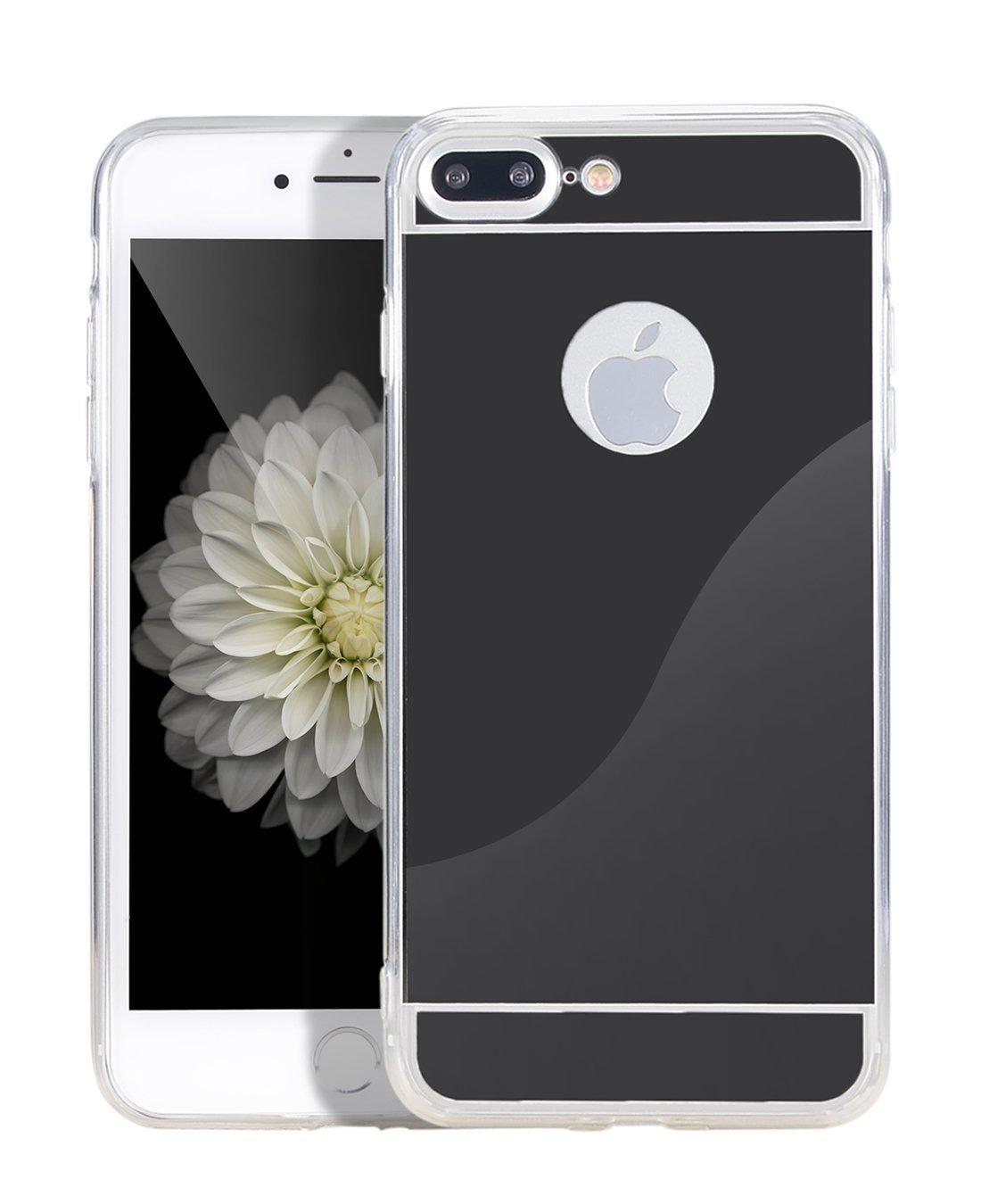Zrcadlový kryt My Mirror pro iPhone 7 Plus - Černý (black)