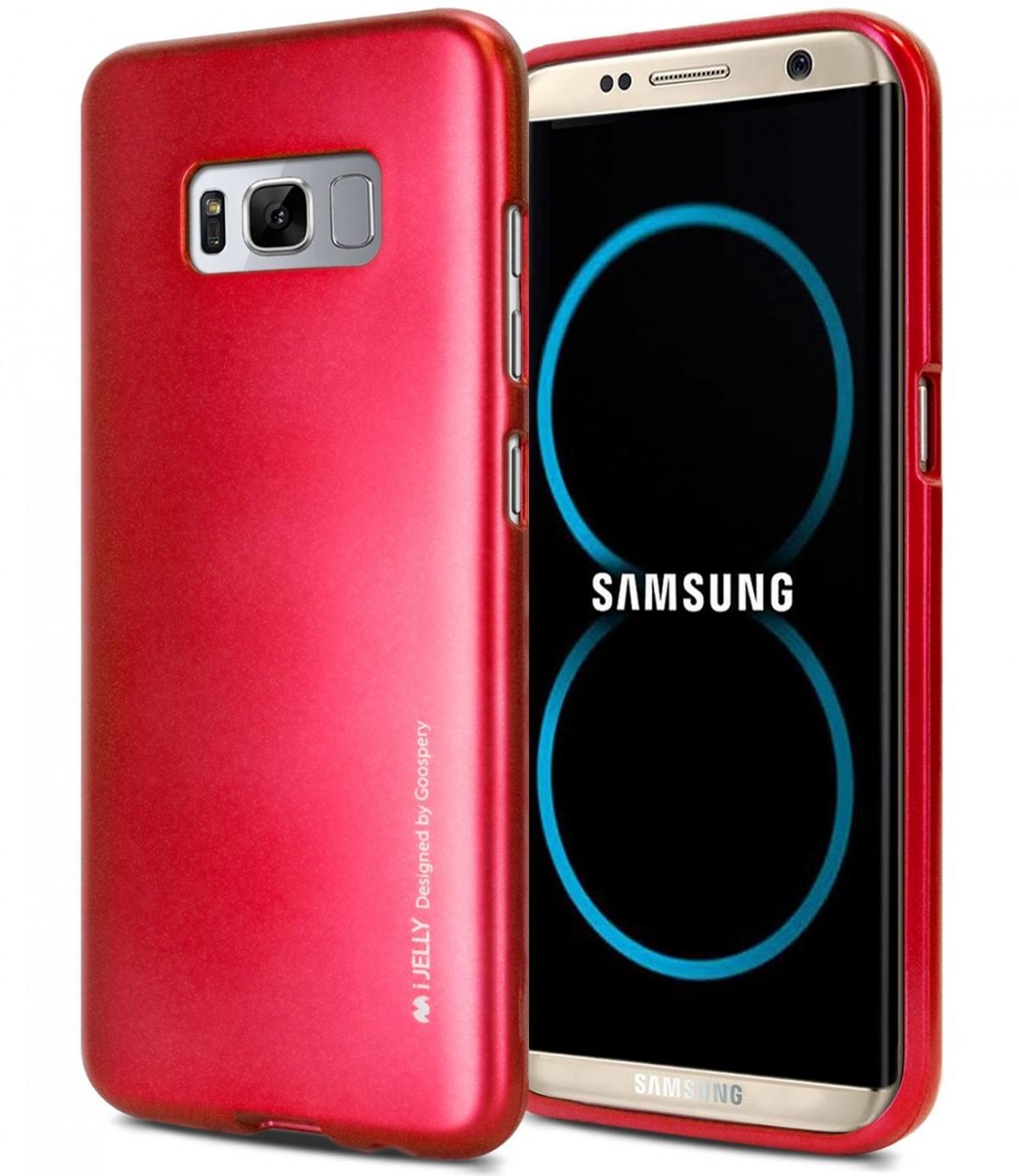 Silikonový obal / kryt Jelly od Goospery Mercury pro Samsung Galaxy S8 - iJelly Metal - Vínový