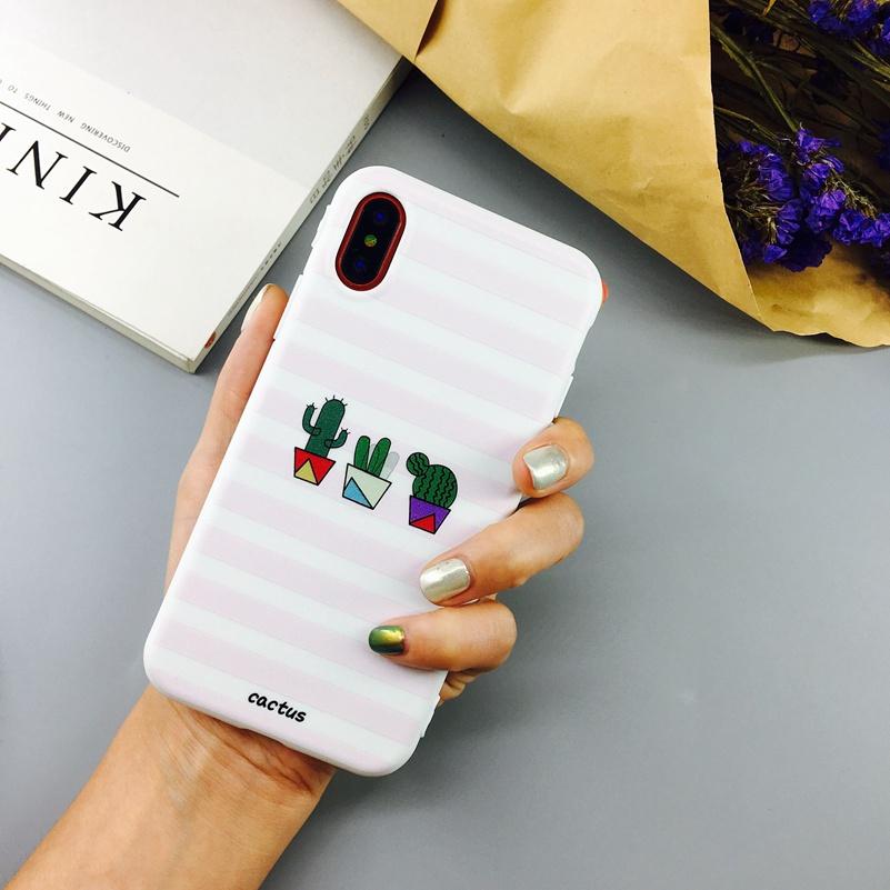Obaly / kryty KAKTUS pro mobily Apple iPhone - X, pruhovaný