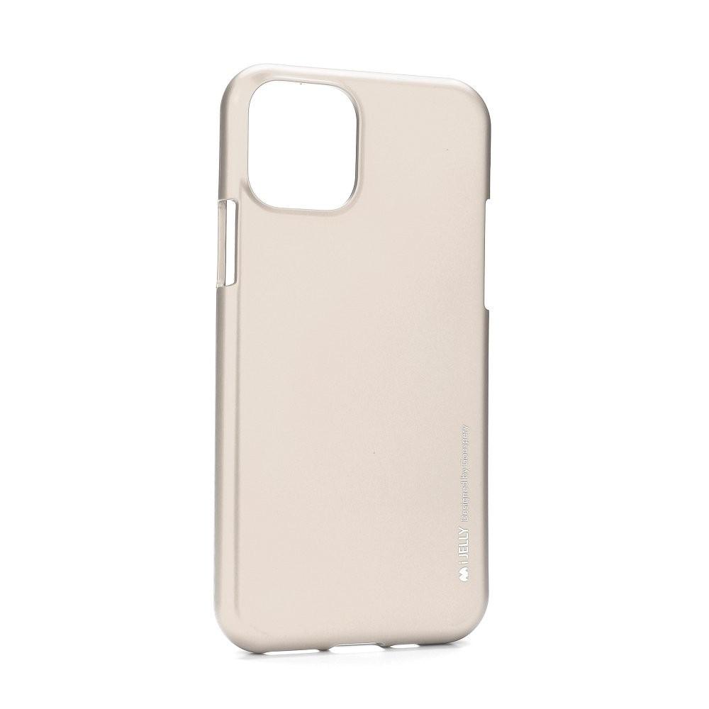 Pouzdro Mercury i-Jelly Metal iPhone 11 - Zlatý