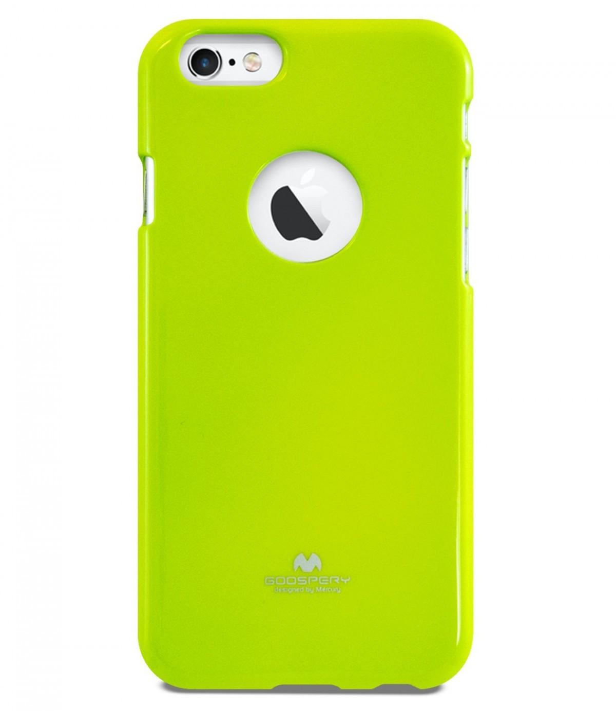 Tenké silikonové obaly / kryty Goospery Mercury pro Apple iPhone 6s/6 - Limetkově zelený / Lime