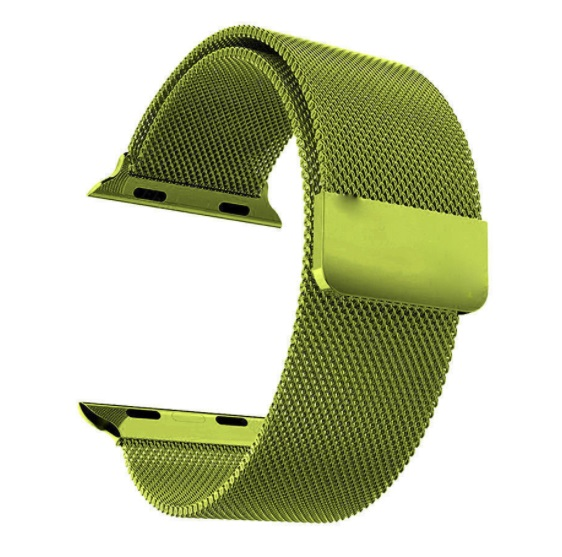 Řemínek MILANESE LOOP pro Apple Watch Series 3/2/1 38mm - Hadí zelená