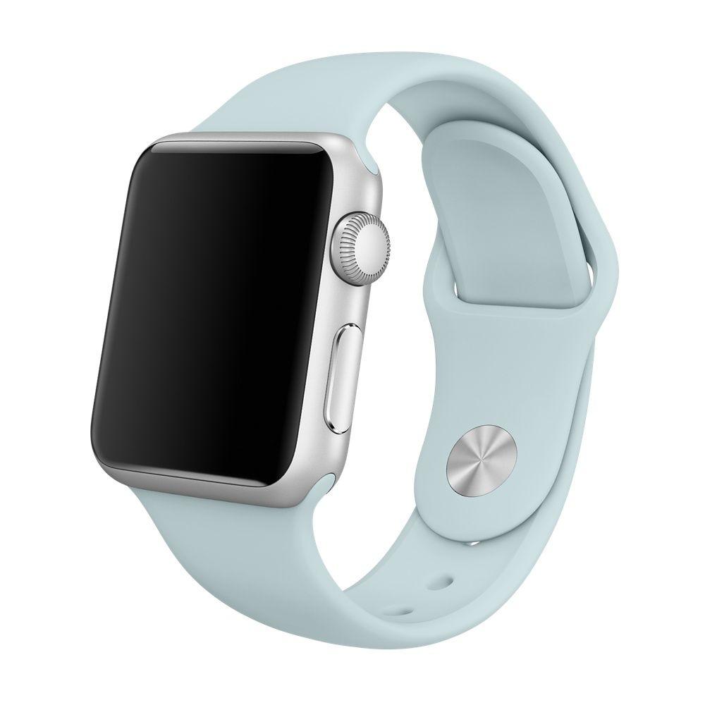 Řemínek SmoothBand pro Apple Watch Series 3/2/1 42mm - Bledě modrý