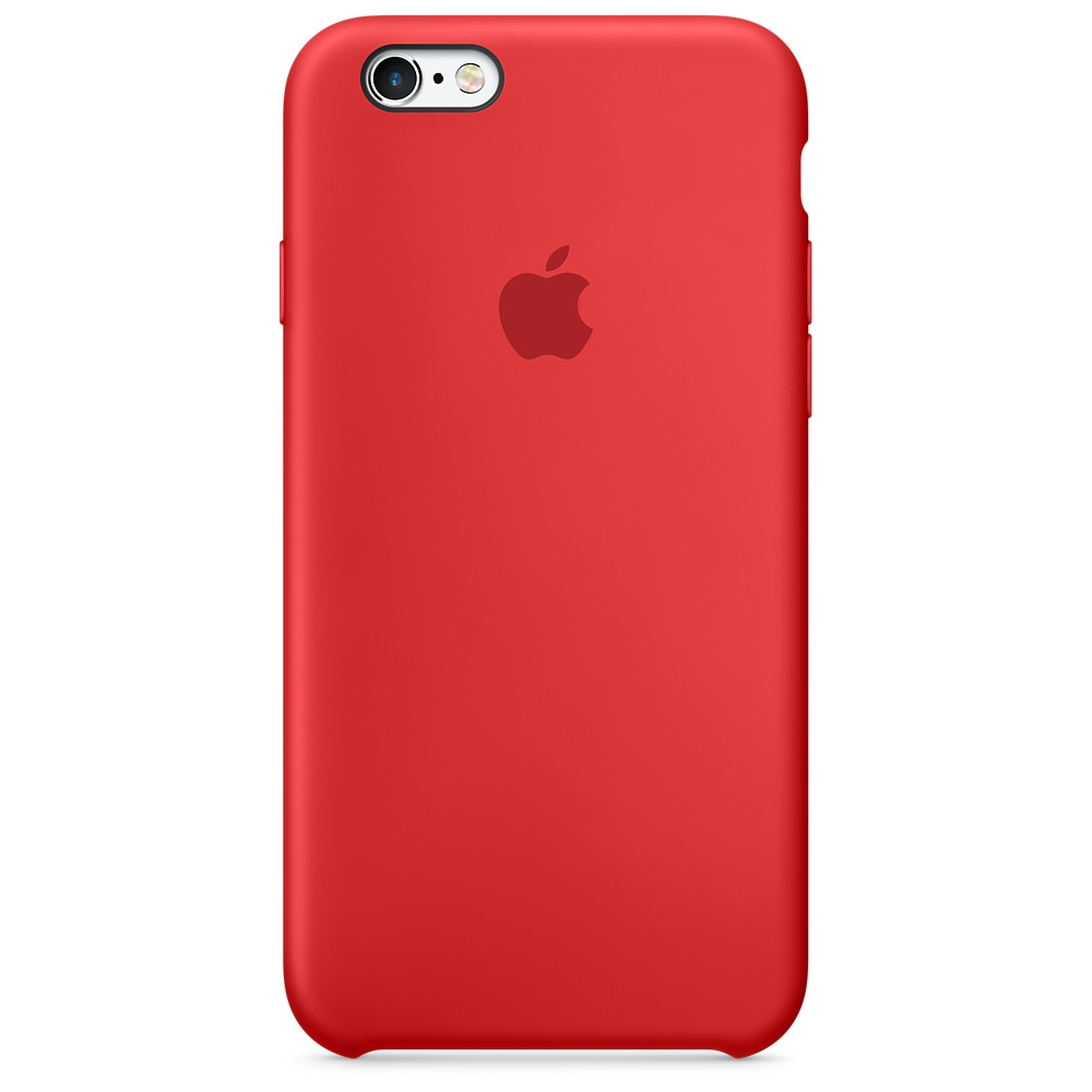 Pouzdro Apple silikonové iPhone 6/6s MKY32ZM/A RED