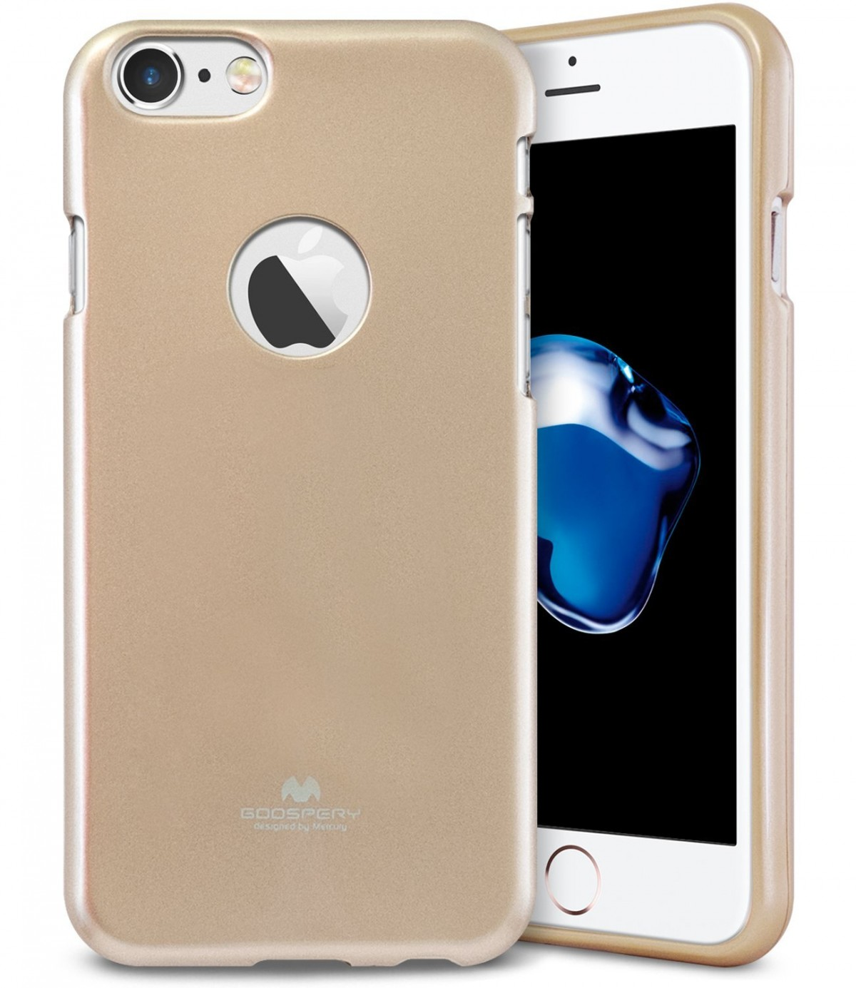 Pouzdro Goospery Mercury Jelly Case Apple iPhone 8 7 - Zlaté 9df4ee52832