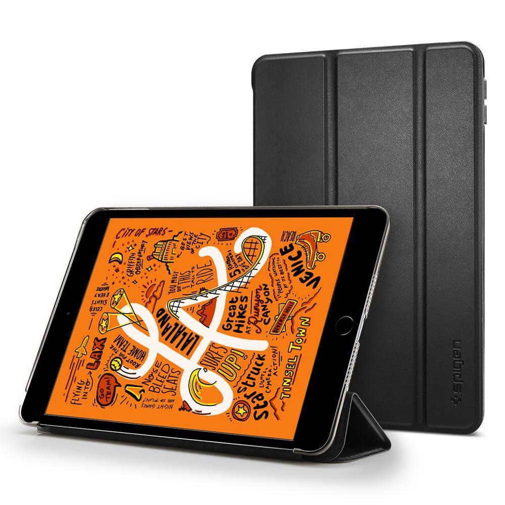 Spigen Smart Fold Case na Apple iPad mini (2019) - Černé