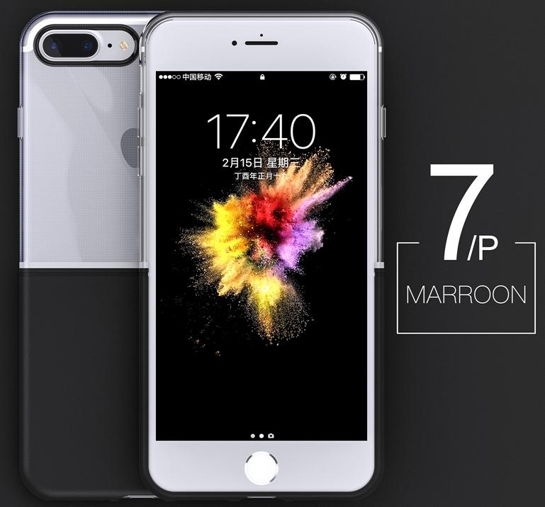 Elegantní kryty DOUBLE pro mobily Apple iPhone - pro iPhone 7 Plus (černý)