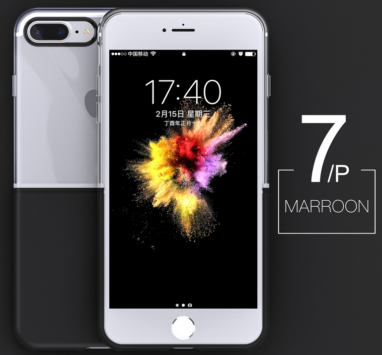 Elegantní kryty DOUBLE pro mobily Apple iPhone - iPhone 7 Plus/8 Plus (černý)