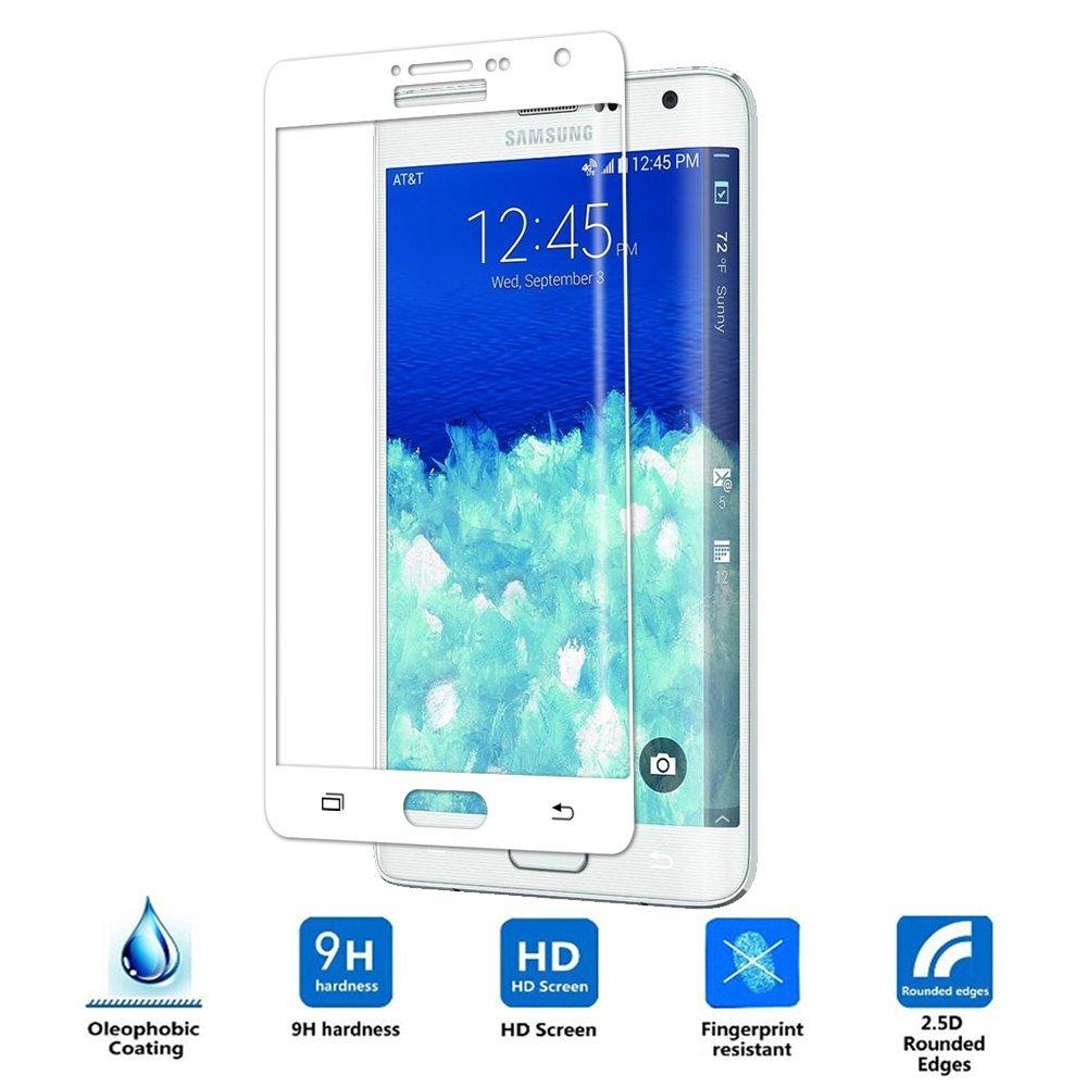 3D Tvrzené sklo 9H na celý displej pro Samsung Galaxy Note Edge - Bílé (white)