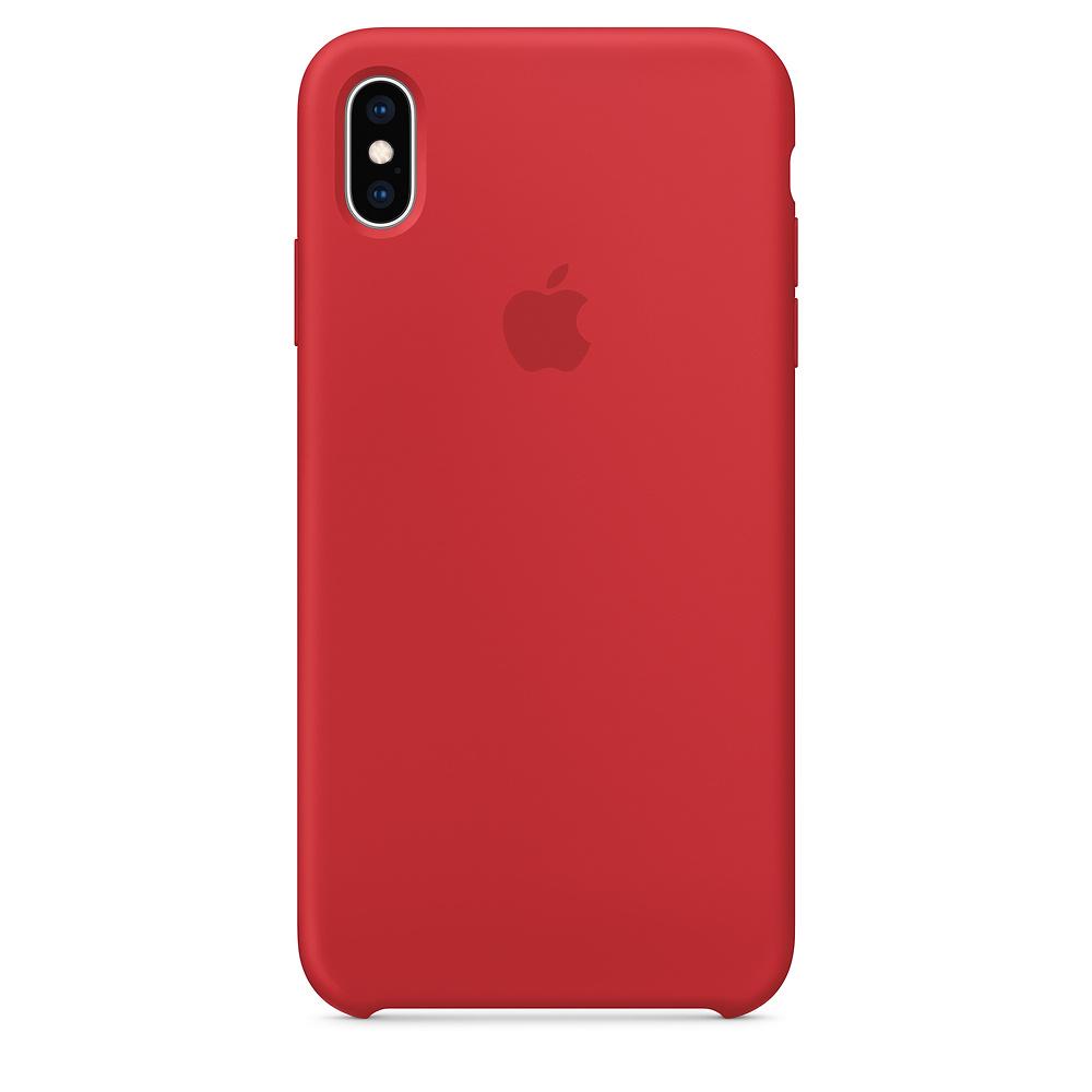 Pouzdro Apple silikonové iPhone XS Max červené