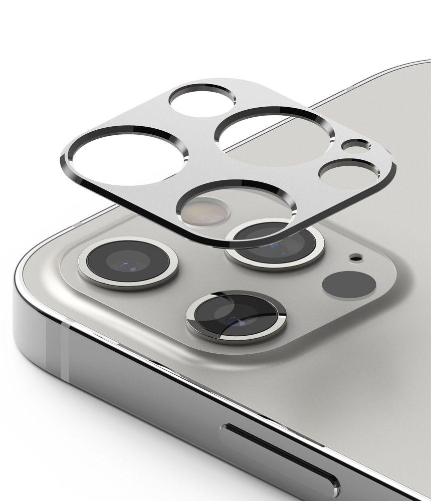 Ringke Camera Styling iPhone 12 Pro - Stříbrné