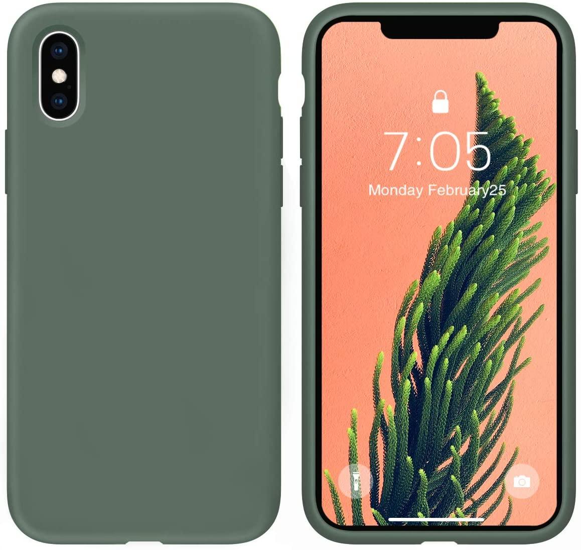 Pouzdro iMore Silicone Case iPhone XS/X - Smrkově zelený