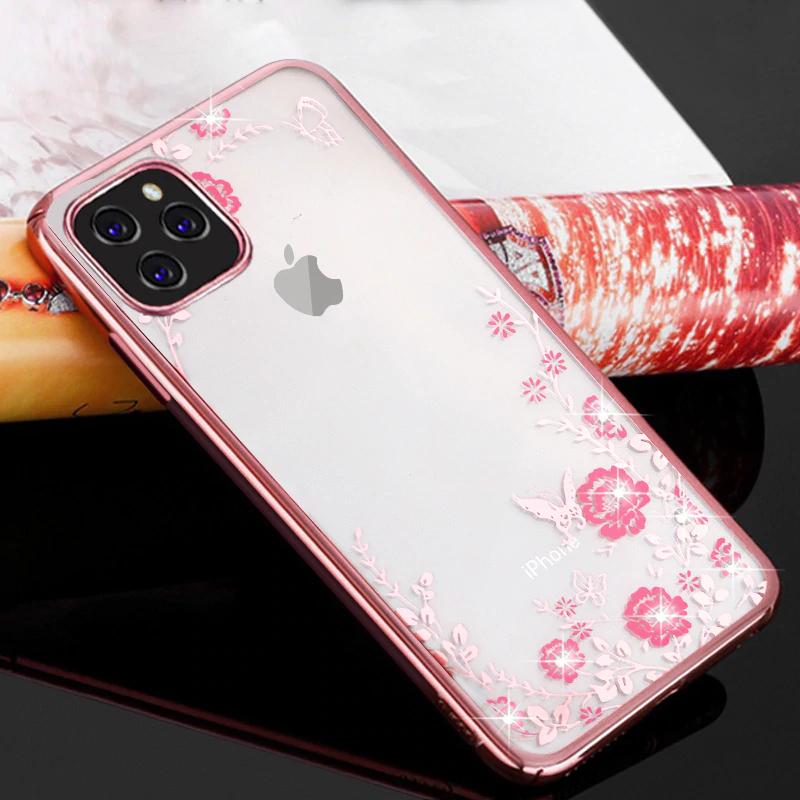 Pouzdro Forcell Diamond iPhone 11 Pro Max - Růžově zlaté