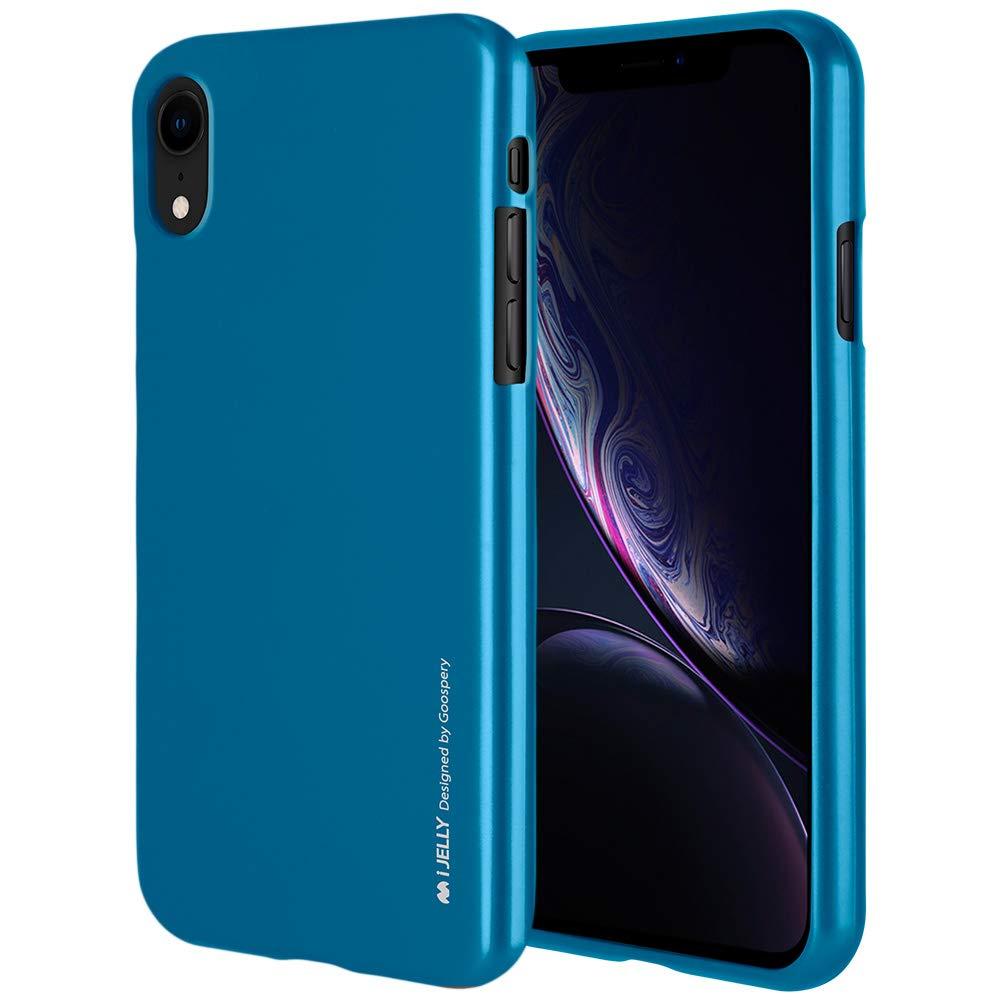 Pouzdro Goospery i-Jelly Metal iPhone XR - Modrý