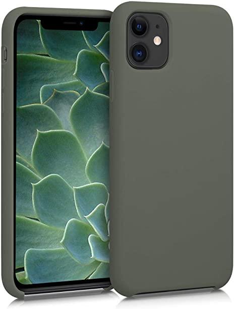 Pouzdro iMore Silicone Case iPhone 11 Pro Max - Olivový