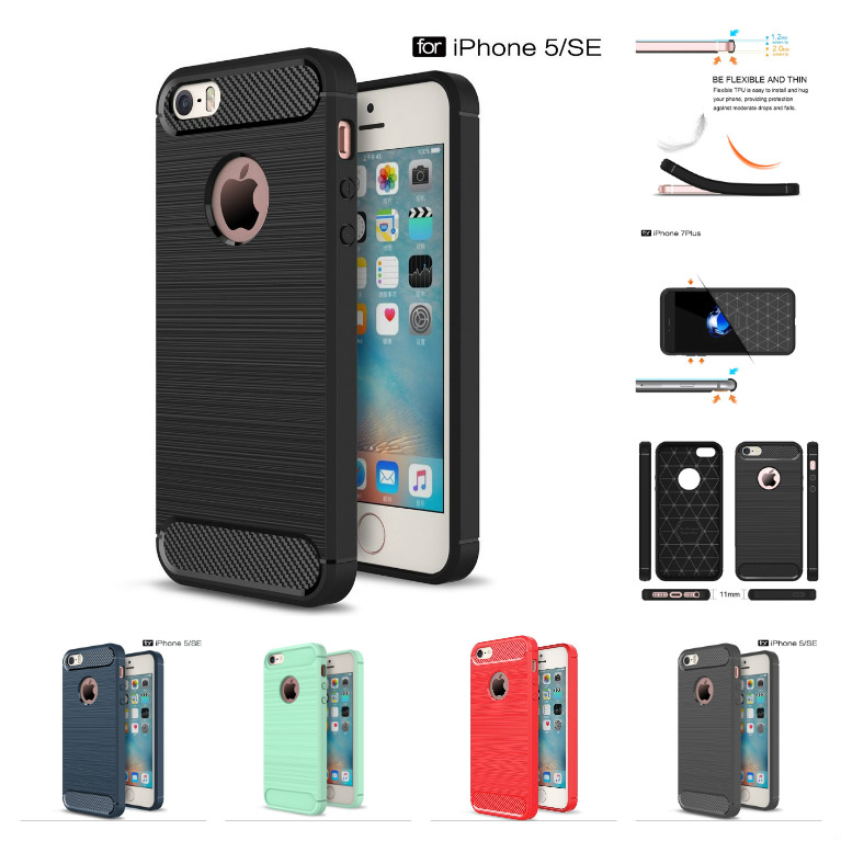 Stylový obal / kryt Carbon Armor pro iPhone SE / 5s / 5