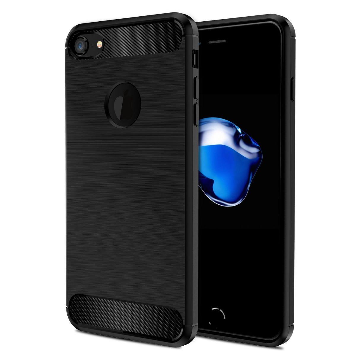 Pouzdro Beweare Ohebné carbon iPhone 7 / iPhone 8 - černé
