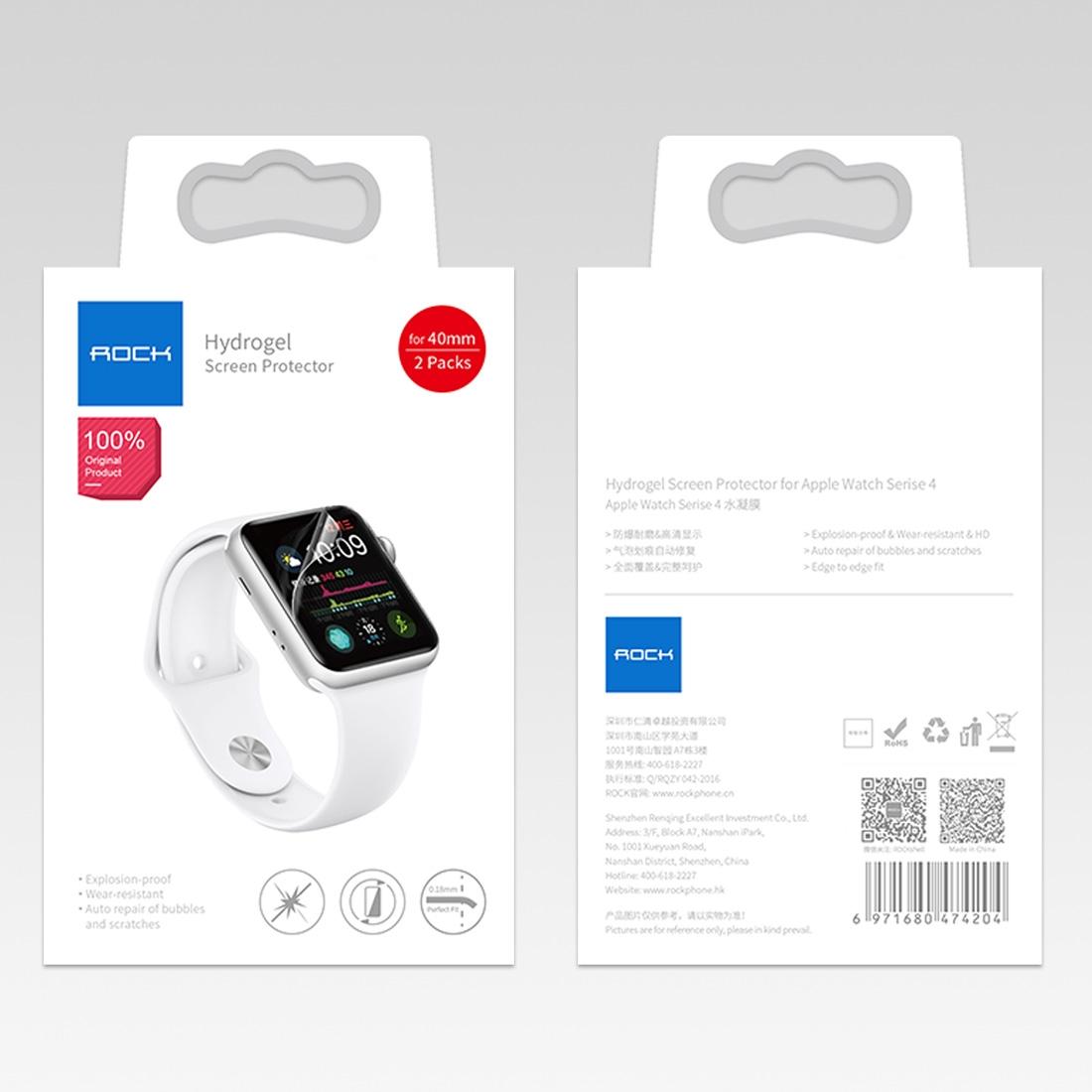 ROCK Hydrogel 2packs na Apple Watch Series 5/4 (40mm)