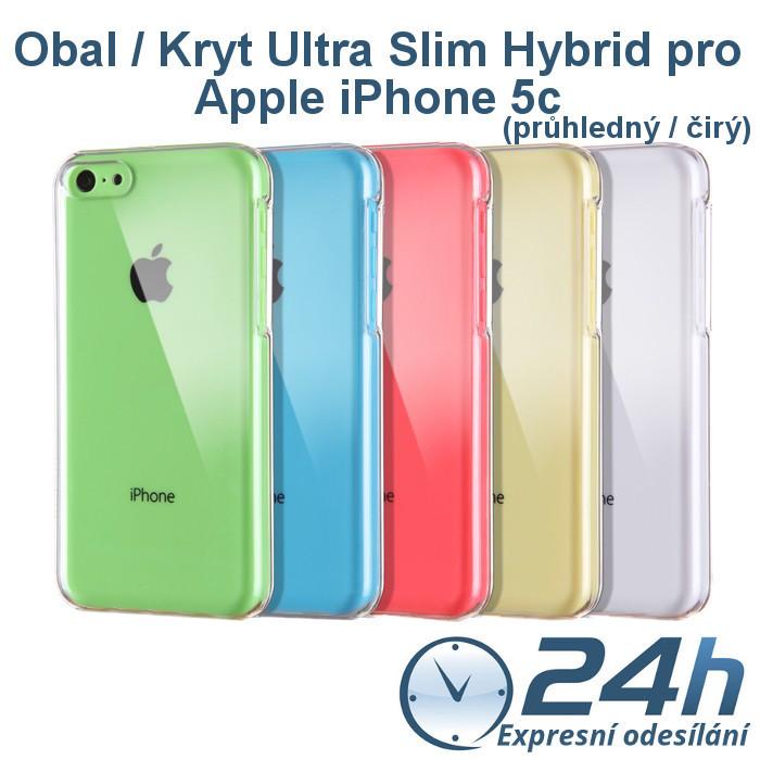 Průhledný čirý obal / kryt Ultra Slim Hybrid na iPhone 5c
