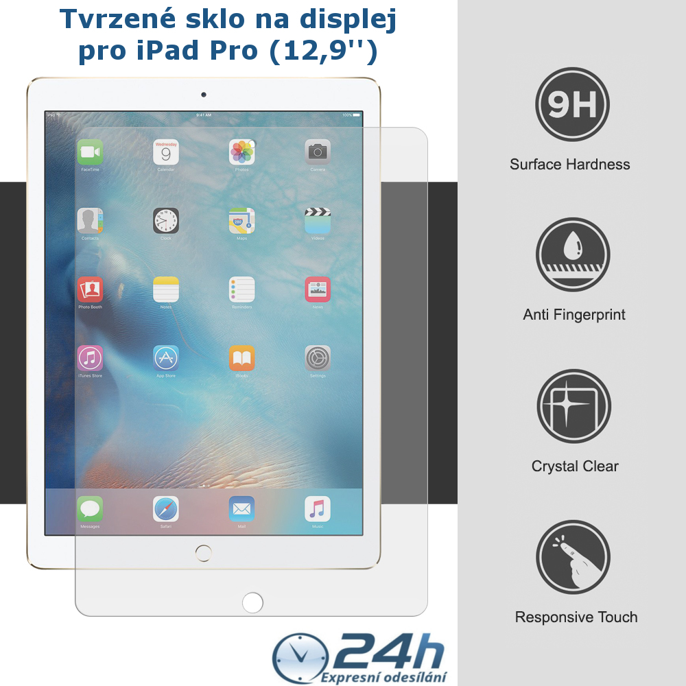 Tvrzené sklo PRO+ na displej Apple iPad Pro 12.9''