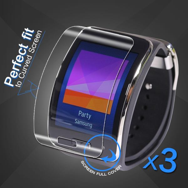Ochranná Fólie na displej ClearGuard pro Samsung Gear S (čirá, set 3ks)