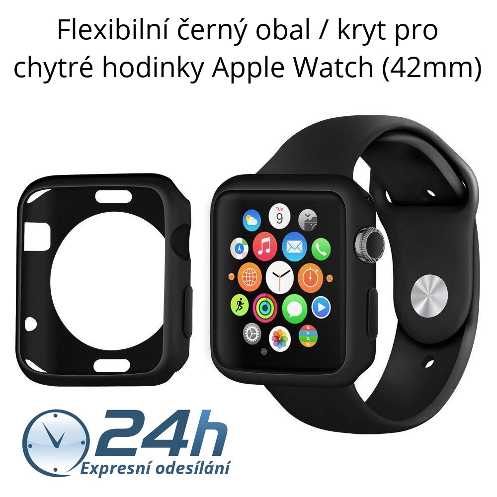 Černý kryt Shadow - Apple Watch / Series 1, 2 (42mm)