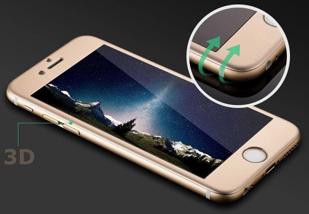 3D ochranné sklo pro Apple iPhone 6s PLUS / 6 PLUS. ZLATÉ.