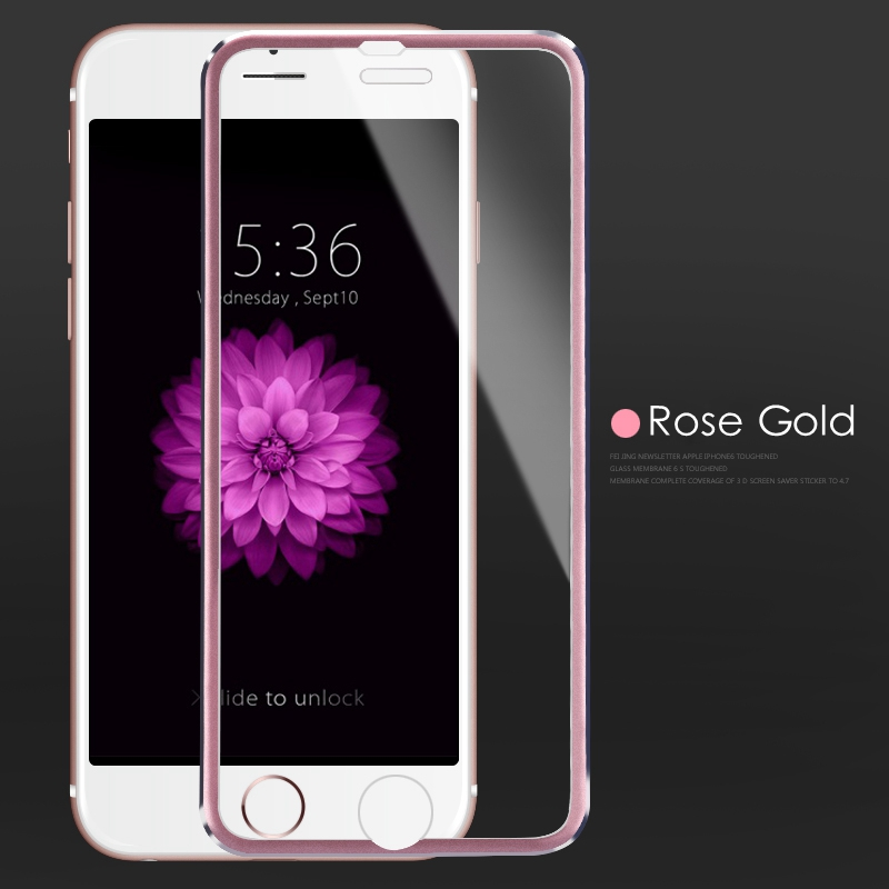 3D sklo iphone Rose gold.