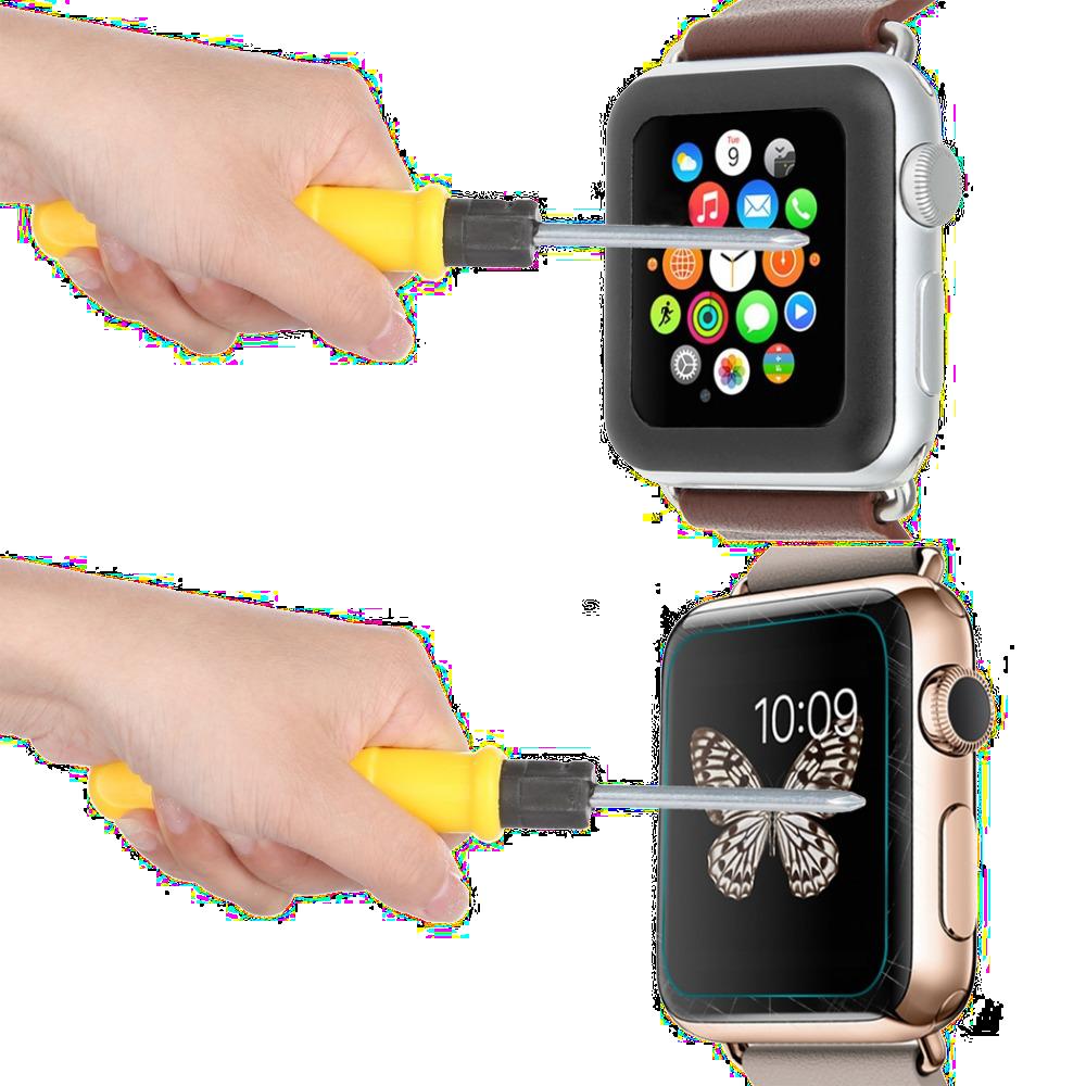 3D zakřivené tvrzené sklo na displej, tempered glass pro Apple Watch.