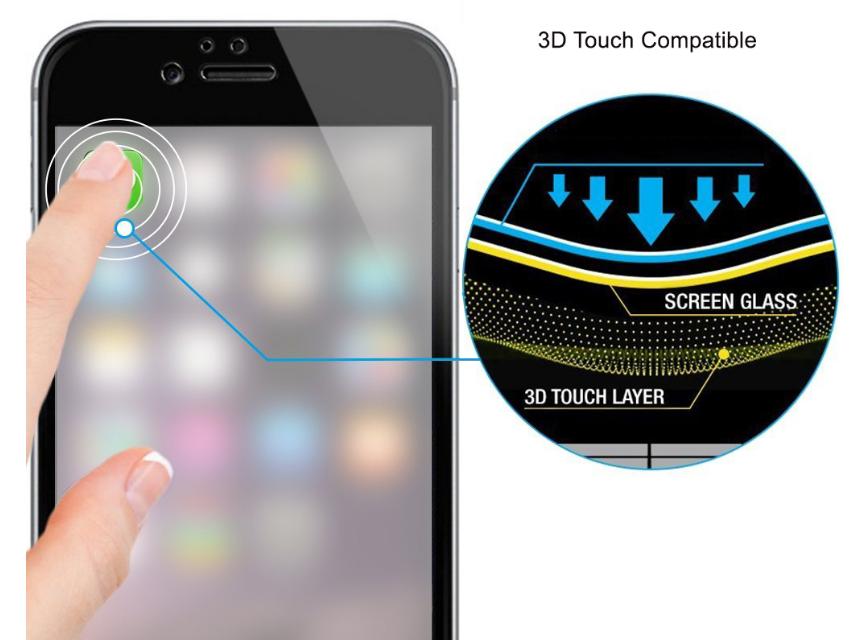 3D TOUCH KOMPATIBILNÍ OCHRANNÉ SKLO NA IPHONE