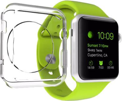 Příslušenství pro Apple Watch. Super tenké silikonové Ultra tenké obaly kryty průhledné transparentní číré pro Apple Watch. Tvrzená skla na displej.