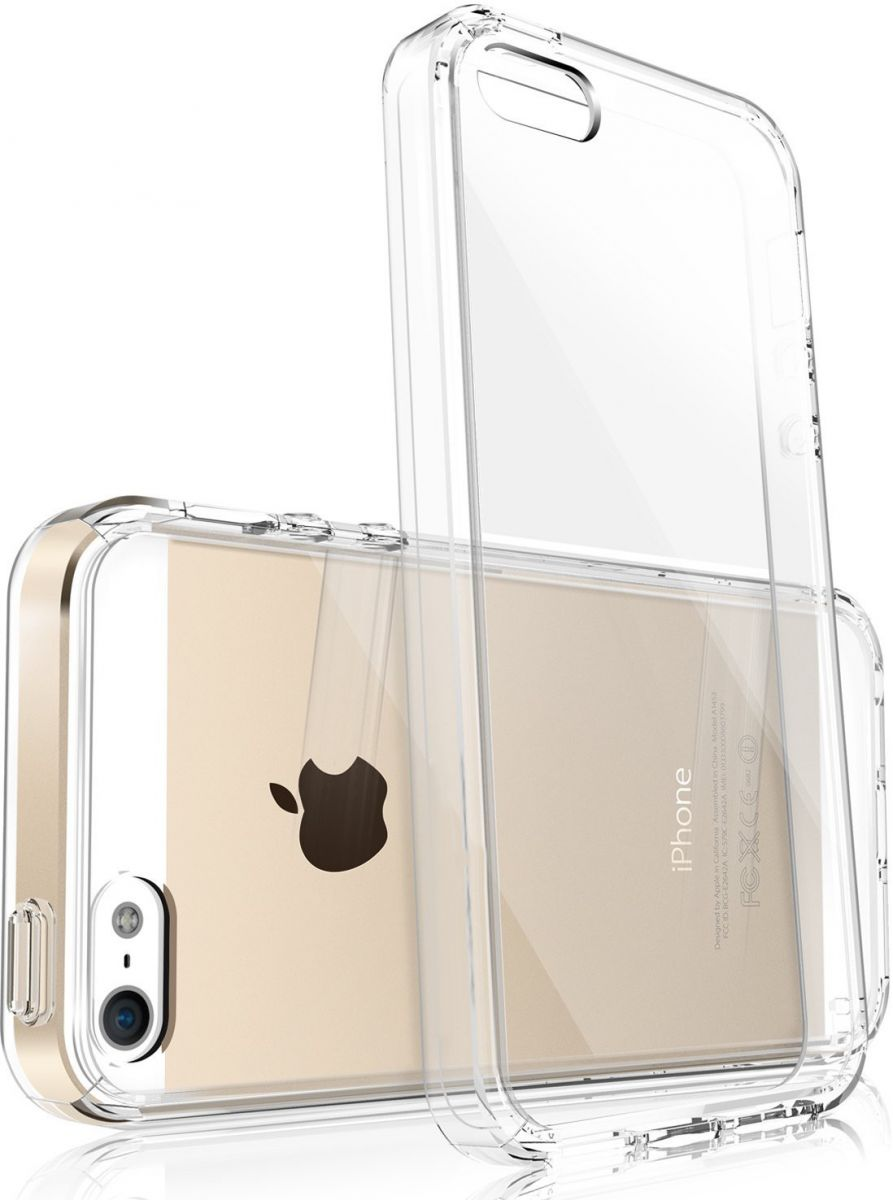 Čirý, průhledný, transparentní, silikonový obal kryt pouzdro Ultra Slim Hybrid na Apple iPhone SE/5S/5.
