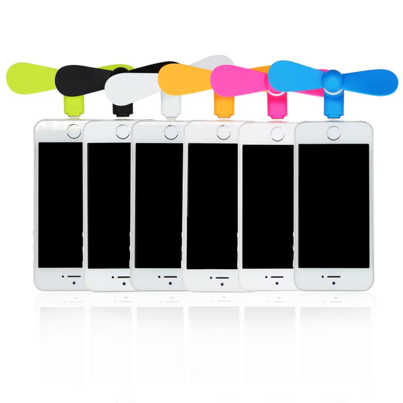 Ventilátor / letní mini větráček pro Apple zařízení (iPhone / iPad / iPod) s konektorem Lightning - bílá barva, HIT LÉTA