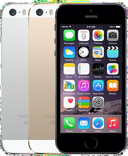 Mobilní telefony Apple iPhone 5s a iPhone 5, vzhled / design