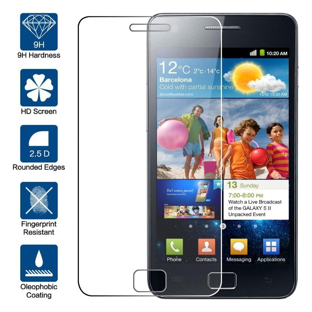 Ochranné tvrzené sklo na displej pro Samsung Galaxy S2 a S2 Plus. Fólie.