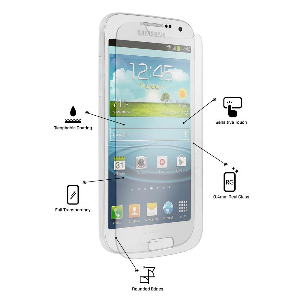 Ochranné tvrzené sklo na displej 9H pro Samsung Galaxy S4 mini.