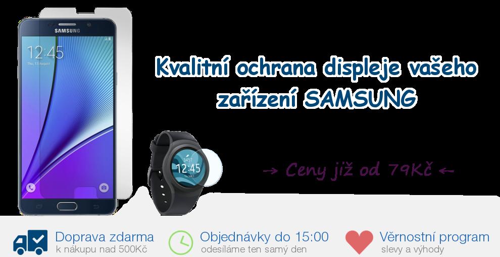 ítejte na eshopu SKLO-NA-SAMSUNG.CZ: Ochranná tvrzená skla na displej pro mobilní telefony a tablety Samsung