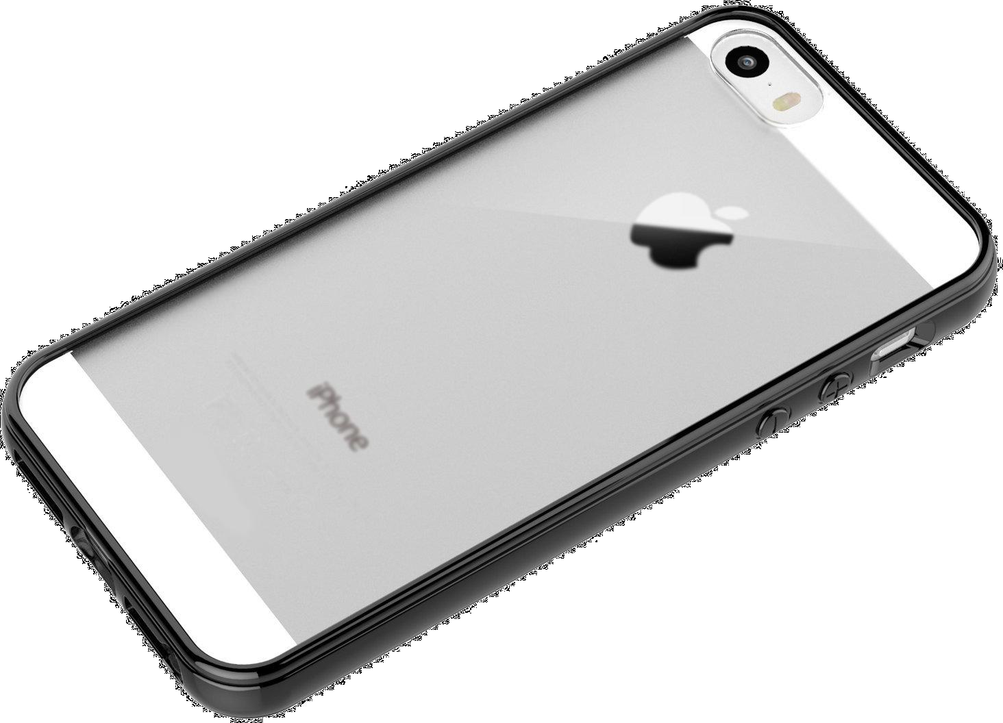 Ochranný obal kryt pouzdro Shadow Hybrid průhledný matný černý pro iPhone 5s a iPhone 5.