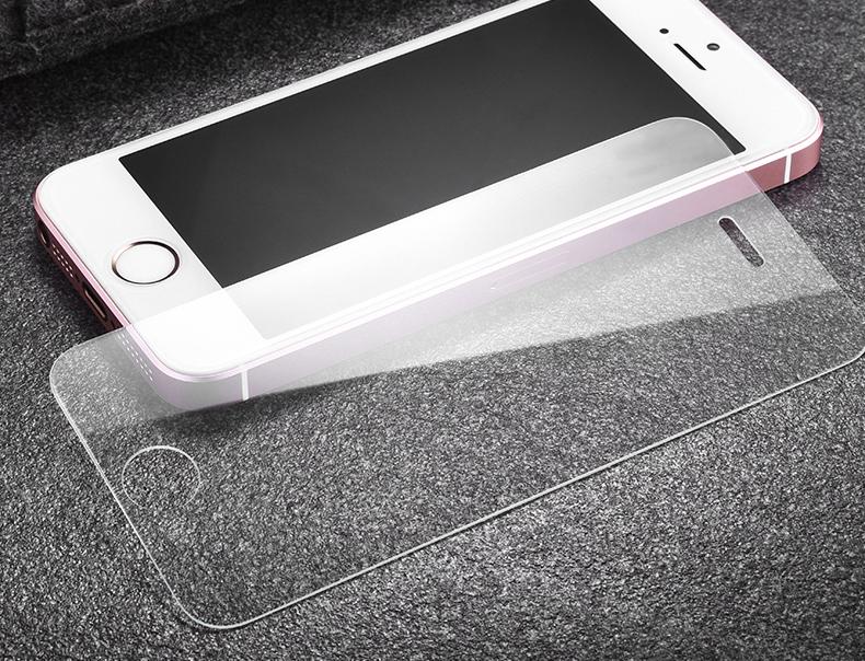Ochranné tvrzené sklo na displej 9h pro iPhone 5s, 5c, 5c a iPhone SE.