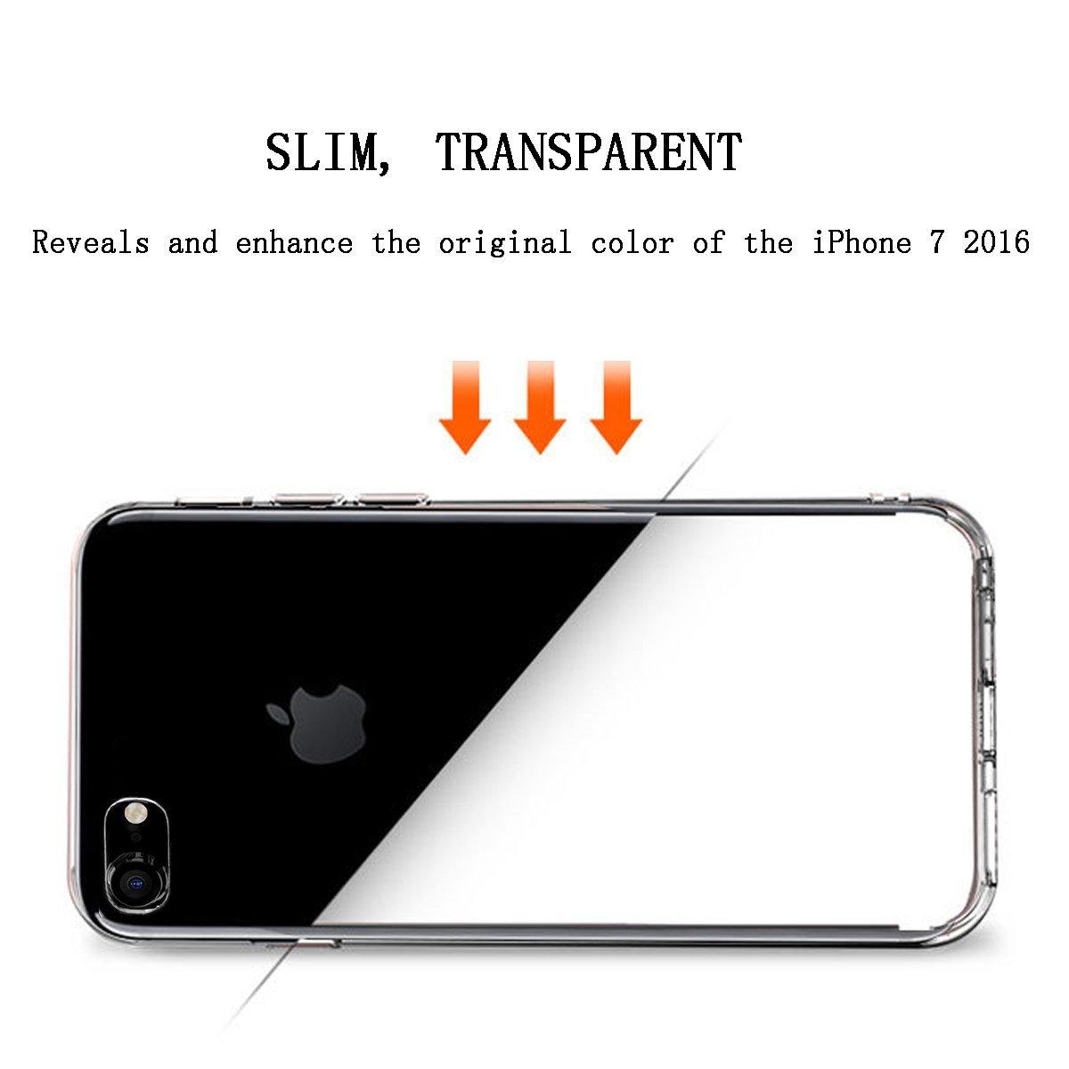 iphone 7 iphone 7 plus pruhledny ciry transparentni obal kryt slim pouzdro silikonovy slilikonove