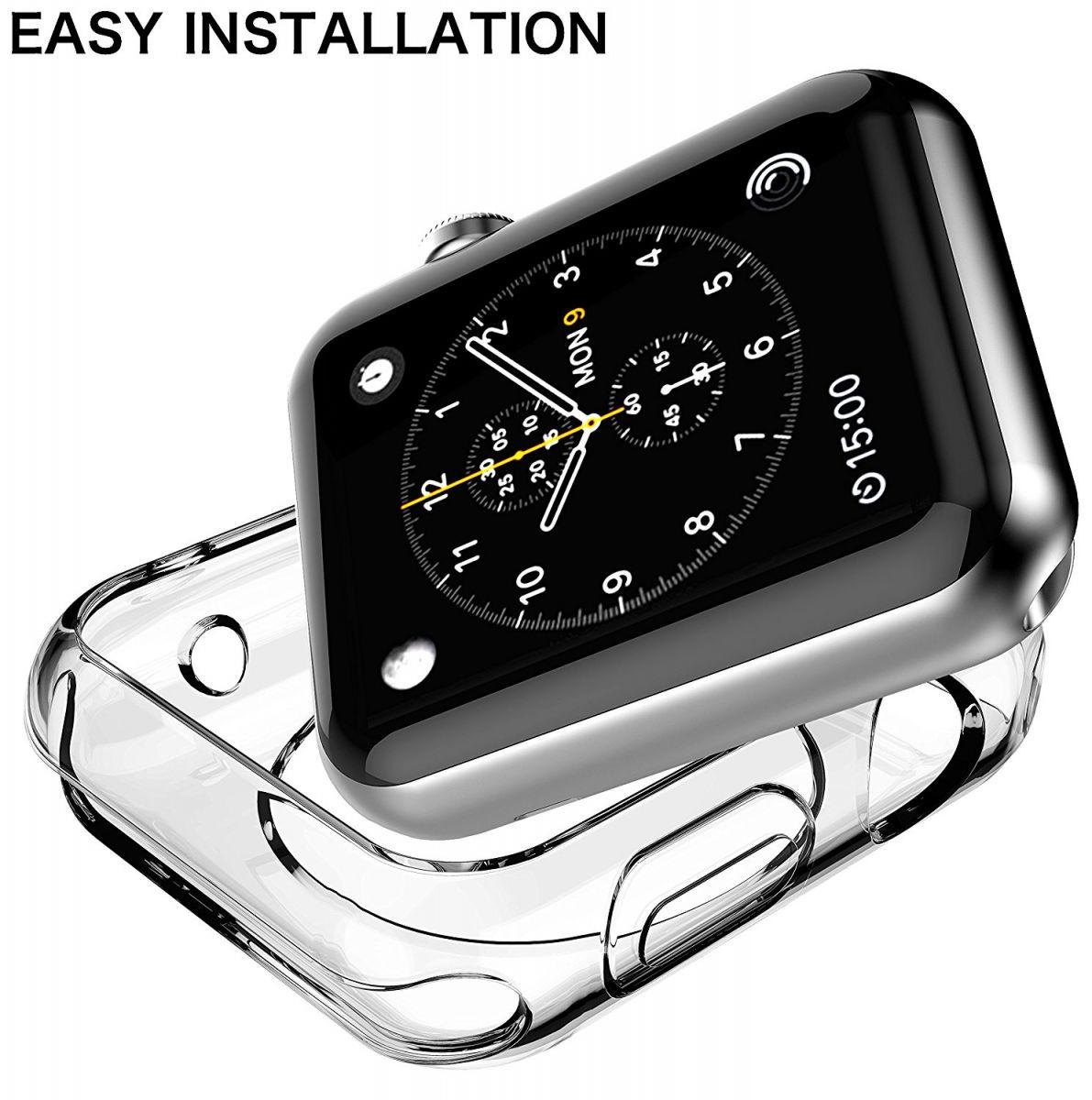 obal kryt pouzdro na hodinky apple watch 42mm a 38mm pruhledne cire transparentni silikonove tenke slim ultratenke kvalitni 2