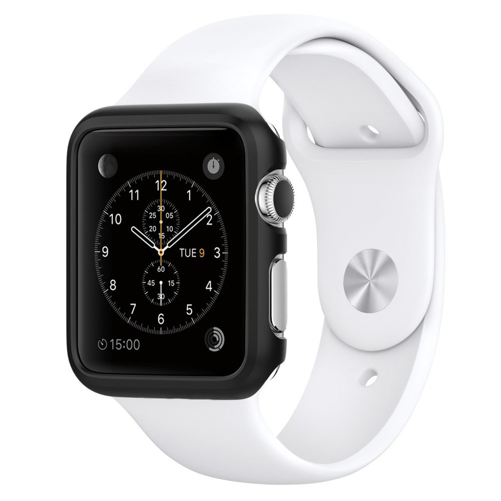 Černý obal / kryt na hodinky Apple Watch.