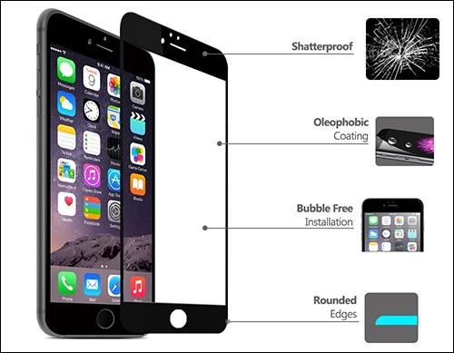 Tvrzené sklo 3D FULL COVER pro iPhone 6s PLUS / 6 PLUS (bílé)